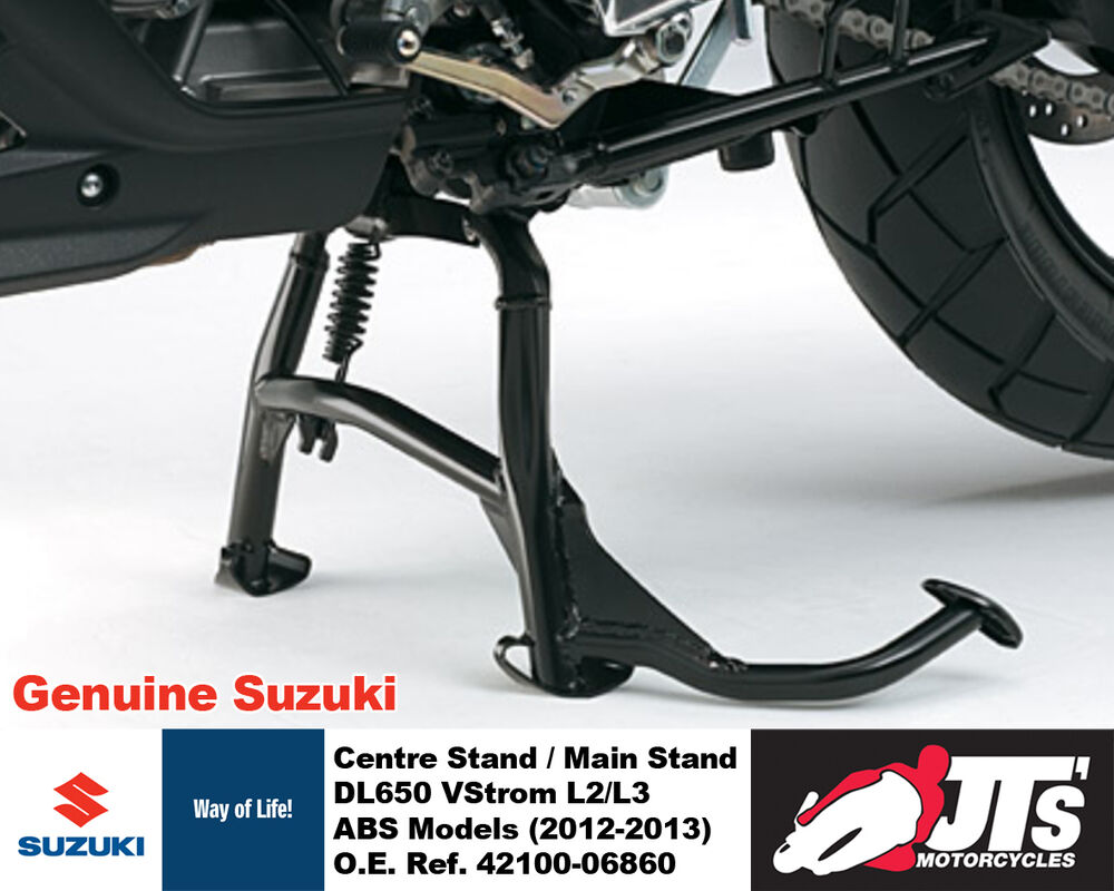 genuine suzuki centre stand main stand kit dl650 vstrom v strom abs 12 13 ebay. Black Bedroom Furniture Sets. Home Design Ideas