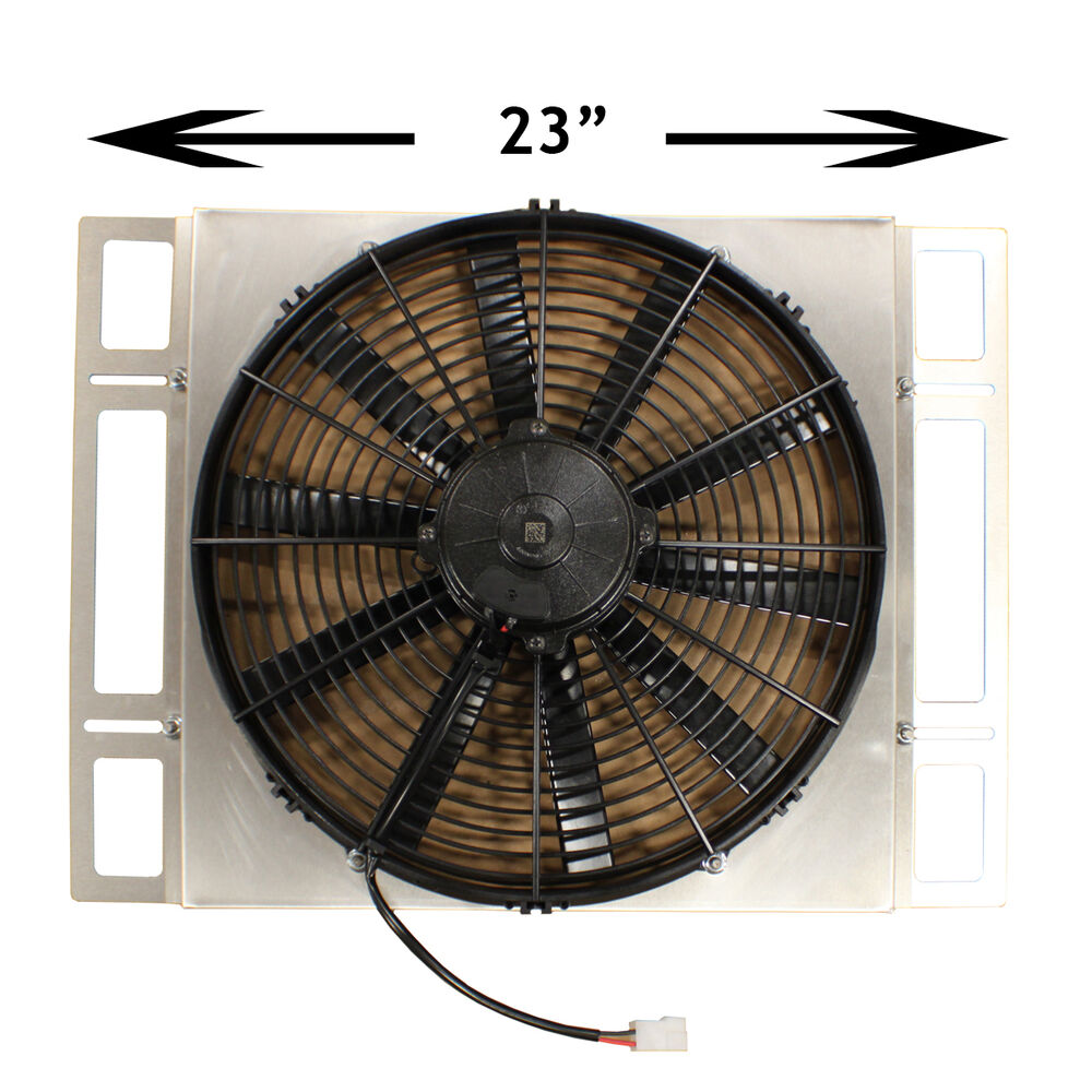 People Using Electric Fan : Custom built adjustable aluminum shroud w quot spal