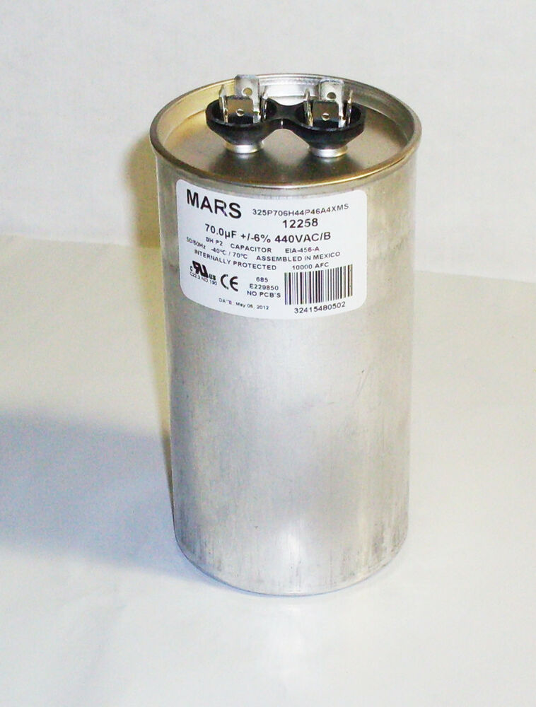 mars 12258 motor run capacitors 70mfd round 440 370vac new