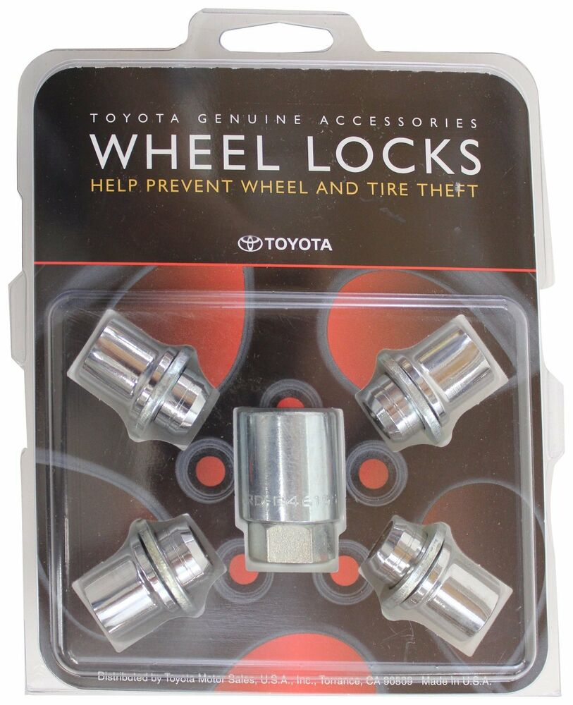 genuine toyota avalon and camry alloy wheel lock set 2002 2015 factory parts ebay. Black Bedroom Furniture Sets. Home Design Ideas