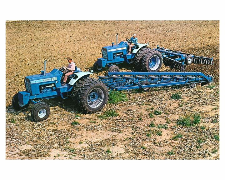 1972 Ford 9000 Tractor : Ford  tractor photo poster zc m l ebay