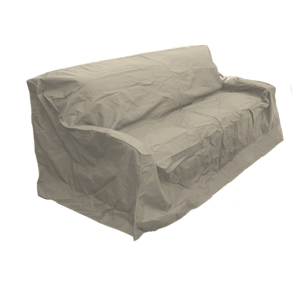 Patio garden outdoor large sofa cover new patio furniture for Covered deck furniture