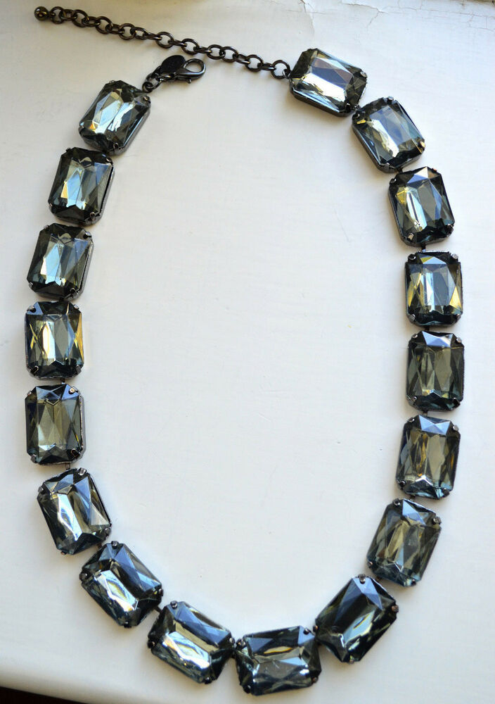 Authentic joan rivers necklace large gem necklace joan for Joan rivers jewelry necklaces
