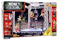 "WWE Jakks Money in the Bank Ladder Match 22"" Ring + Jeff Hardy & Mr. Kennedy New"
