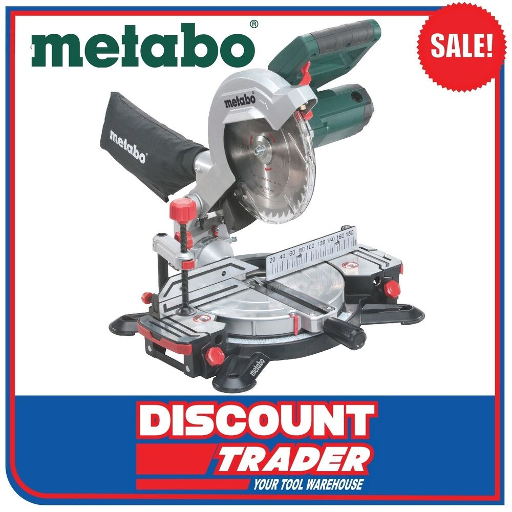 metabo 216mm crosscut compound mitre saw ks 216 m lasercut ebay. Black Bedroom Furniture Sets. Home Design Ideas