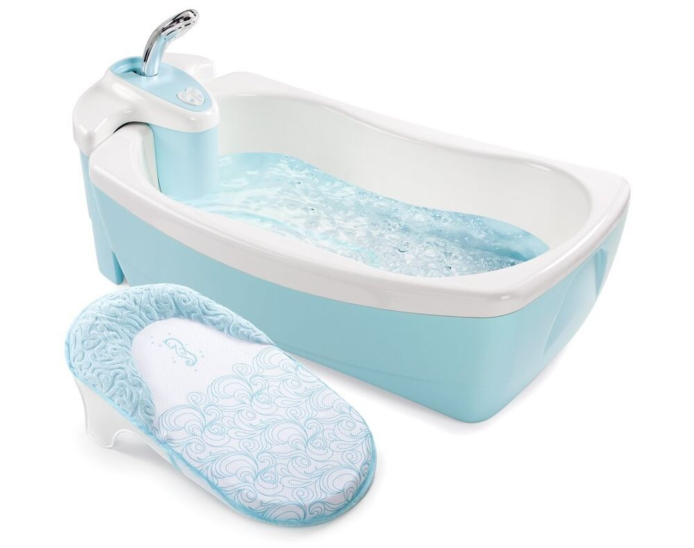 summer infant lil luxuries baby spa tub whirlpool bubbling bathtub spa blue ebay. Black Bedroom Furniture Sets. Home Design Ideas
