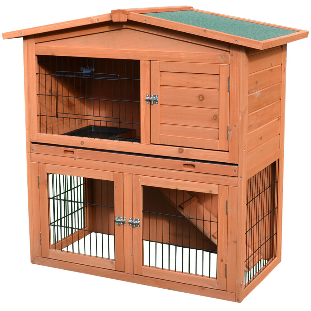 40 new a frame wood wooden rabbit hutch small animal house. Black Bedroom Furniture Sets. Home Design Ideas