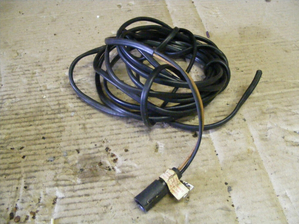 johnson evinrude 2 wire black 16 quot brown wire engine harness 16 ft outboard boat ebay