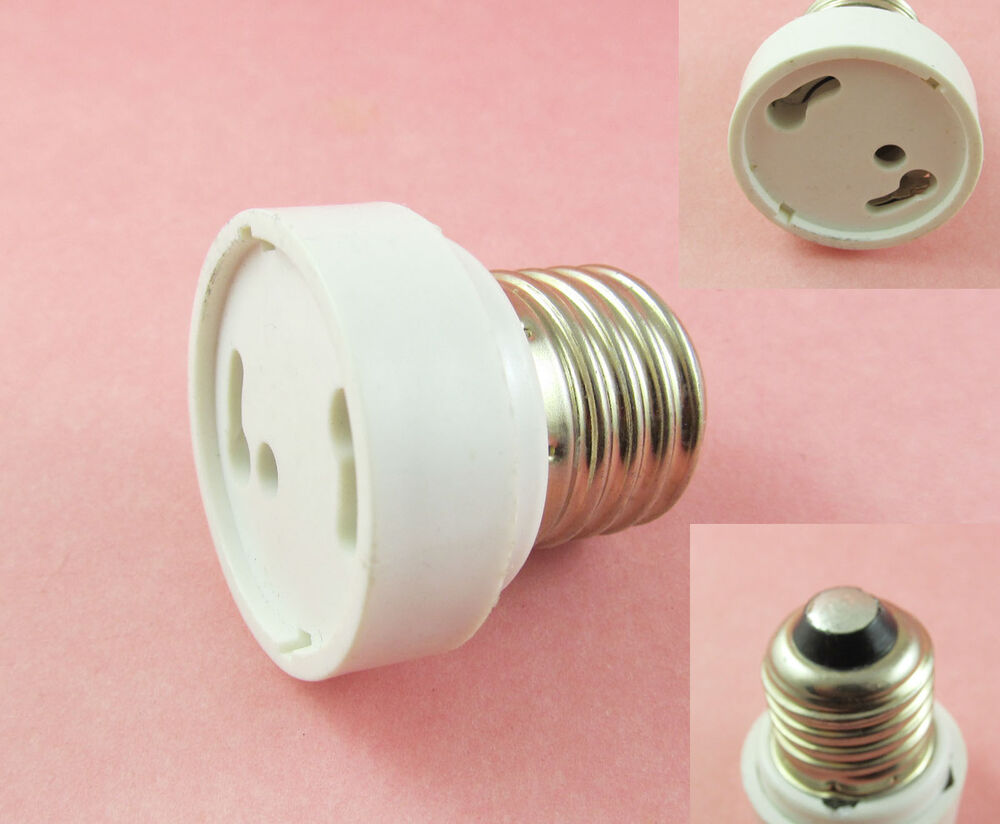 E27 e26 to gu24 socket led halogen cfl light bulb lamp adapter converter holder ebay Light bulb socket