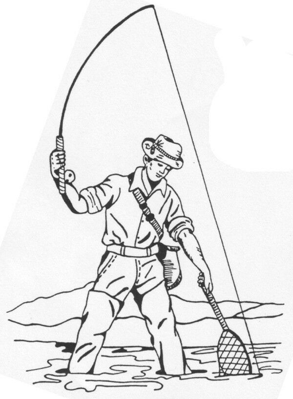 Unmounted Rubber Stamps Set, Fly Fishing, Men, Humorous ...