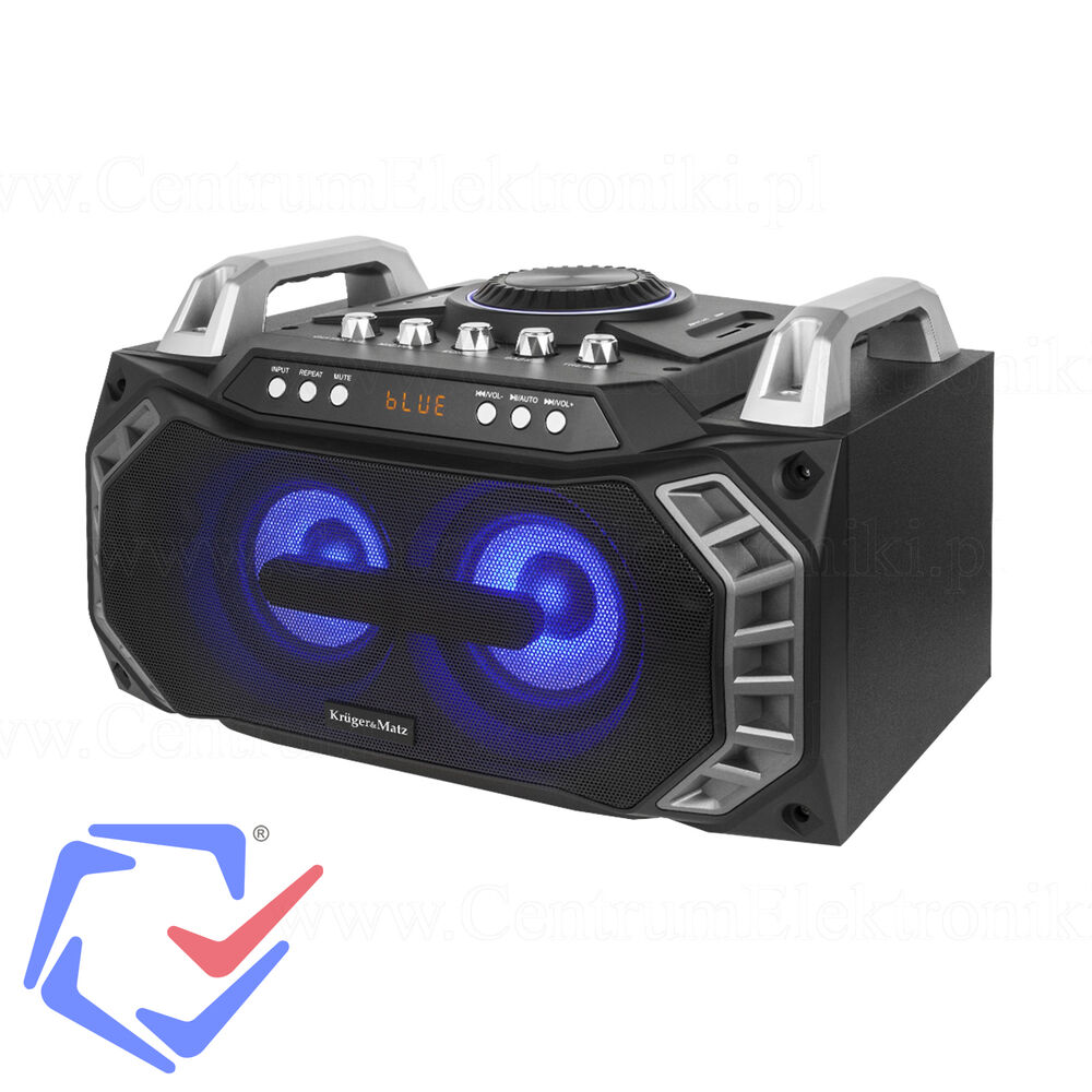 boombox 2x40w mit radio bluetooth mikrofon und karaoke. Black Bedroom Furniture Sets. Home Design Ideas