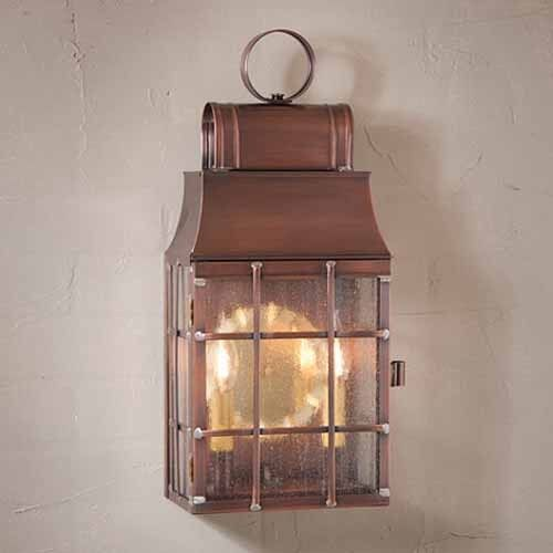 in solid antique copper washington copper outdoor light ebay