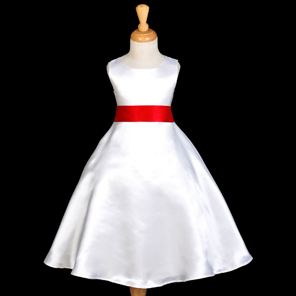 cb8f29c7eb Details about NEW PAGEANT CHRISTMAS PARTY FORMAL A-LINE FLOWER GIRL DRESS  18M 2 4 6 8 10 12 14