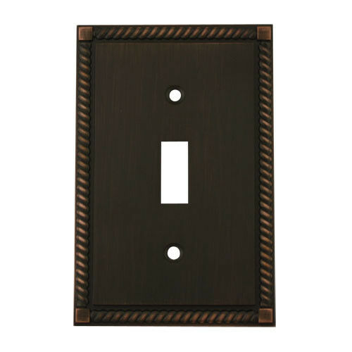 Oil rubbed bronze single toggle decorative wall switchplate cover 88544 orb ebay - Wall switch plates decorative ...