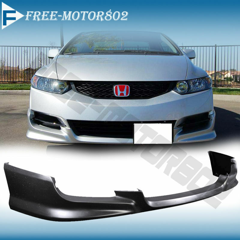 For 09 11 Honda Civic Coupe Urethane Front Bumper Lip