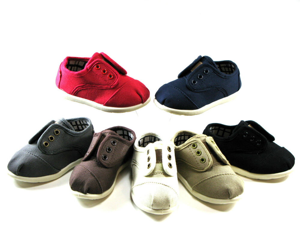 New Oxford Velcro Style Baby Toddler Boys Girls Canvas