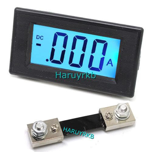 lcd dc 100a digital display led panel ammeter amp ampere