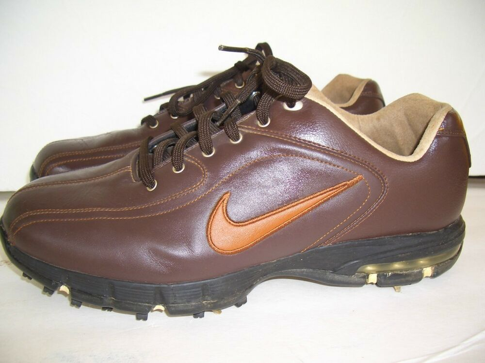 golf shoes nike power channel sport brown leather size 9 5