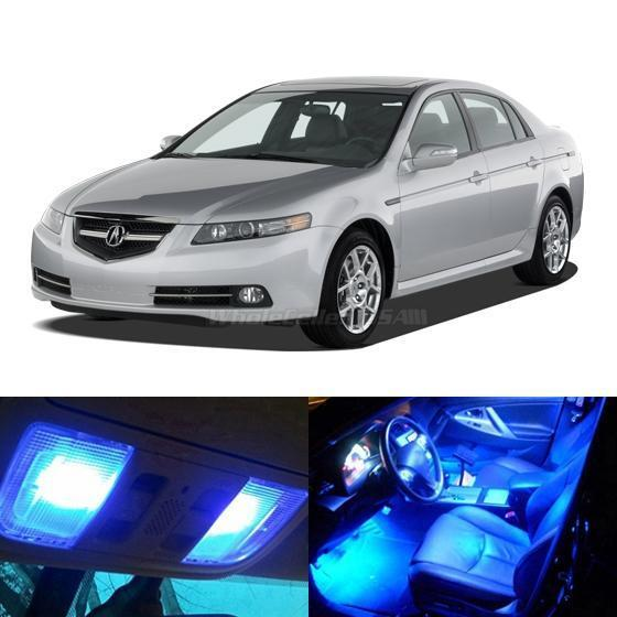 11x blue led light interior bulb package for acura tl 2004 2008 ebay 2004 acura tl led interior lights