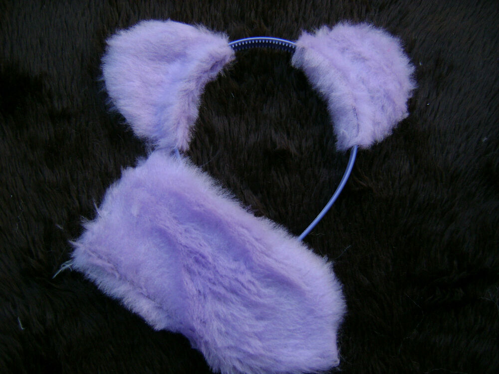Lilac Teddy Bear Ears And Tail Instant Animal Fancy Dress