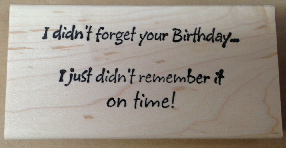... Stamp Birthday Stamps Belated Birthday Card Humorous Sayings | eBay: www.ebay.com/itm/290942428113