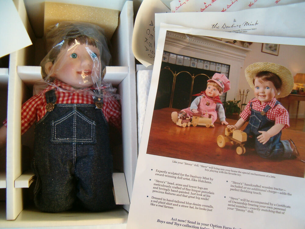 The danbury mint porcelain steve doll by elke hutchens ebay for The danbury