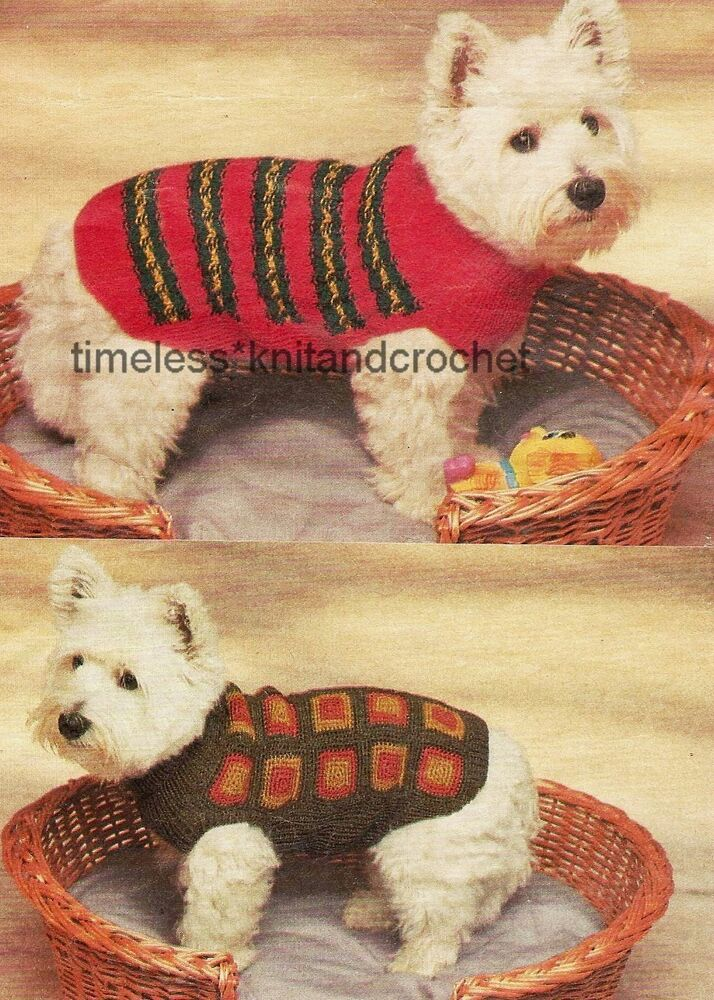 Knitting Coats For Dogs : Knitting crochet pattern for small dog coat coats
