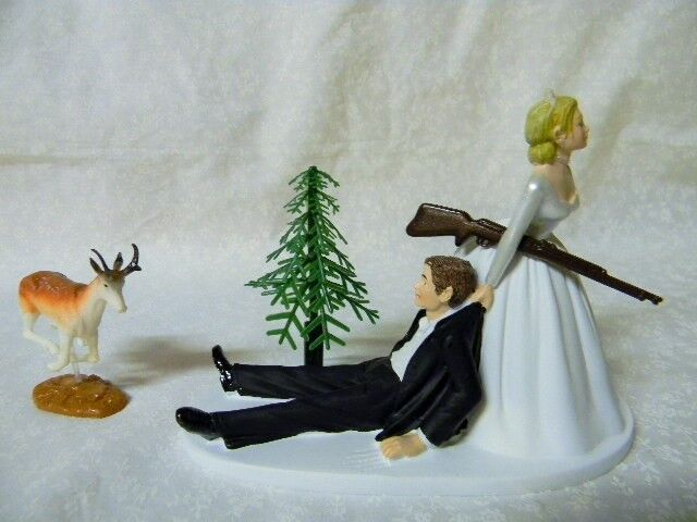 Wedding Party Reception Antelope Prong Horn Cake Topper