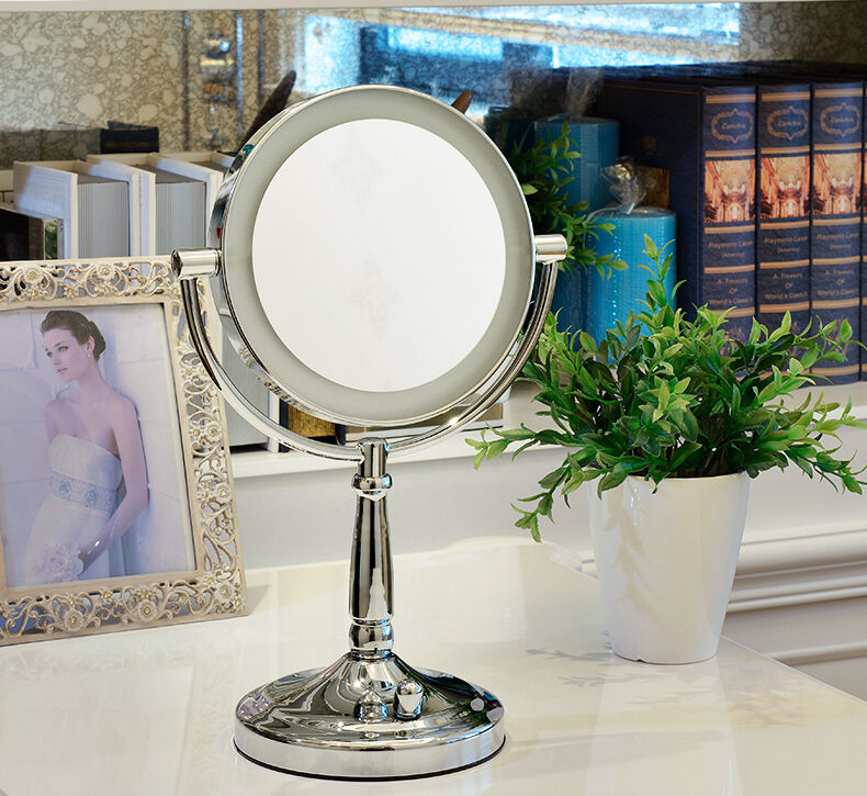 Vanity Lighted Makeup Mirror 10x : 10X /1X Cordless Next Generation LED Lighted Vanity MakeUp Mirror 9