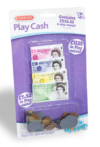 Pretend Toy Money : Casdon play cash money fake coins pretend pound notes