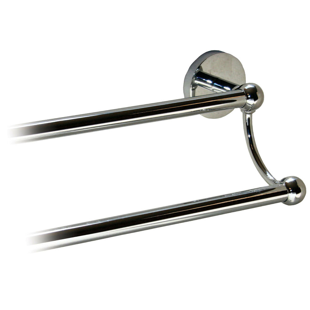bathroom double towel rail 600 750mm polished chrome plated 20 off 80003 4 ebay