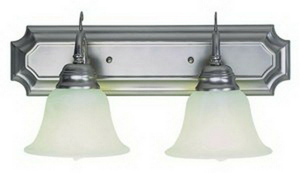 Shop Sea Gull Lighting 3 Light Melody Brushed Nickel: Brushed Nickel And Marbleized Glass 2 Light Fluorescent