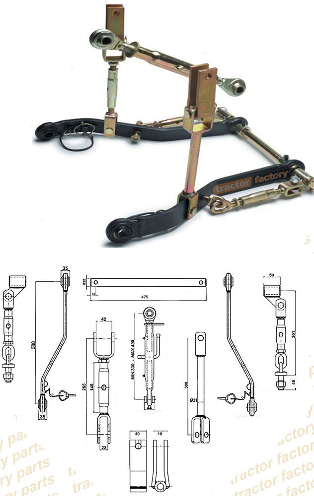 B7610 Kubota Lift Arm : Kubota three point linkage kit cat link arms stabilisers