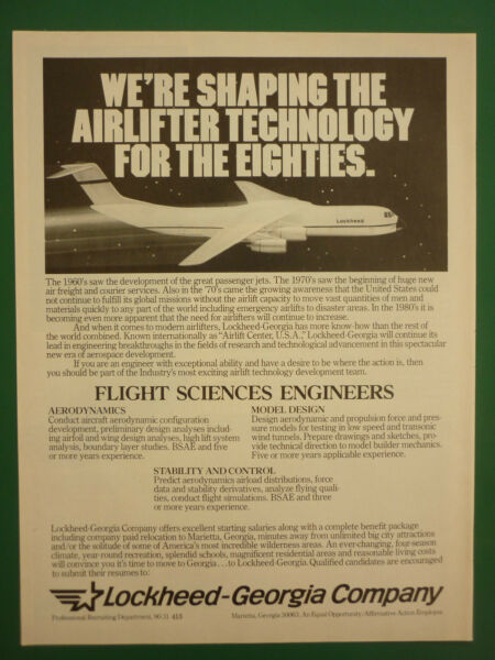 6//1981 PUB LOCKHEED SHAPING AIRLIFTER COCKPIT DISPLAY DIEGO GARCIA ORIGINAL AD