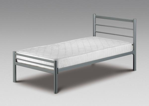 3ft Single Metal Bed Frame - with or without Mattress ...