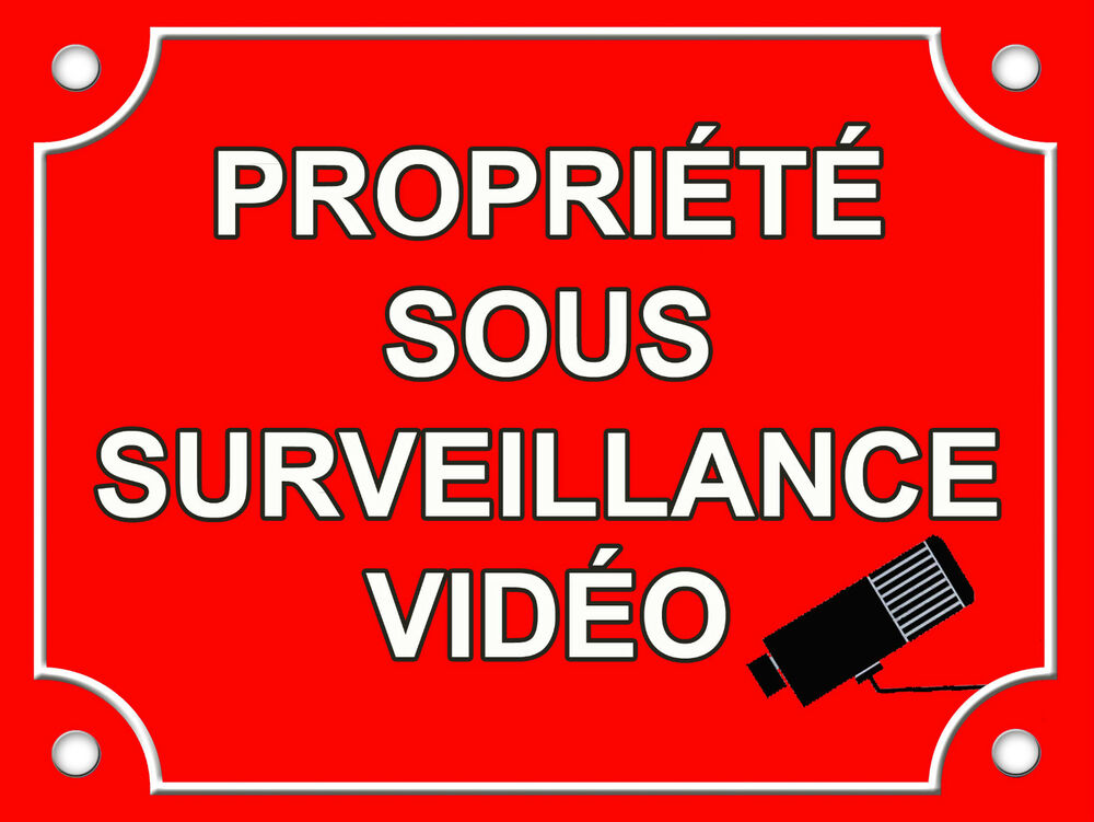 Plaque en aluminium signaletique maison sous video for Alarme surveillance maison