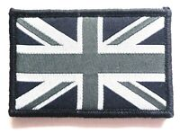 EMBROIDERED BRITISH FLAG PATCH velcro GB cloth badge UK Military SAS Black Ops