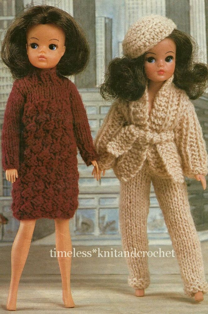 Free Knitting Patterns For Action Man Dolls : KNITTING PATTERN FOR SINDY / BARBIE DOLL CLOTHES DRESS, JACKET, TROUSERS &...