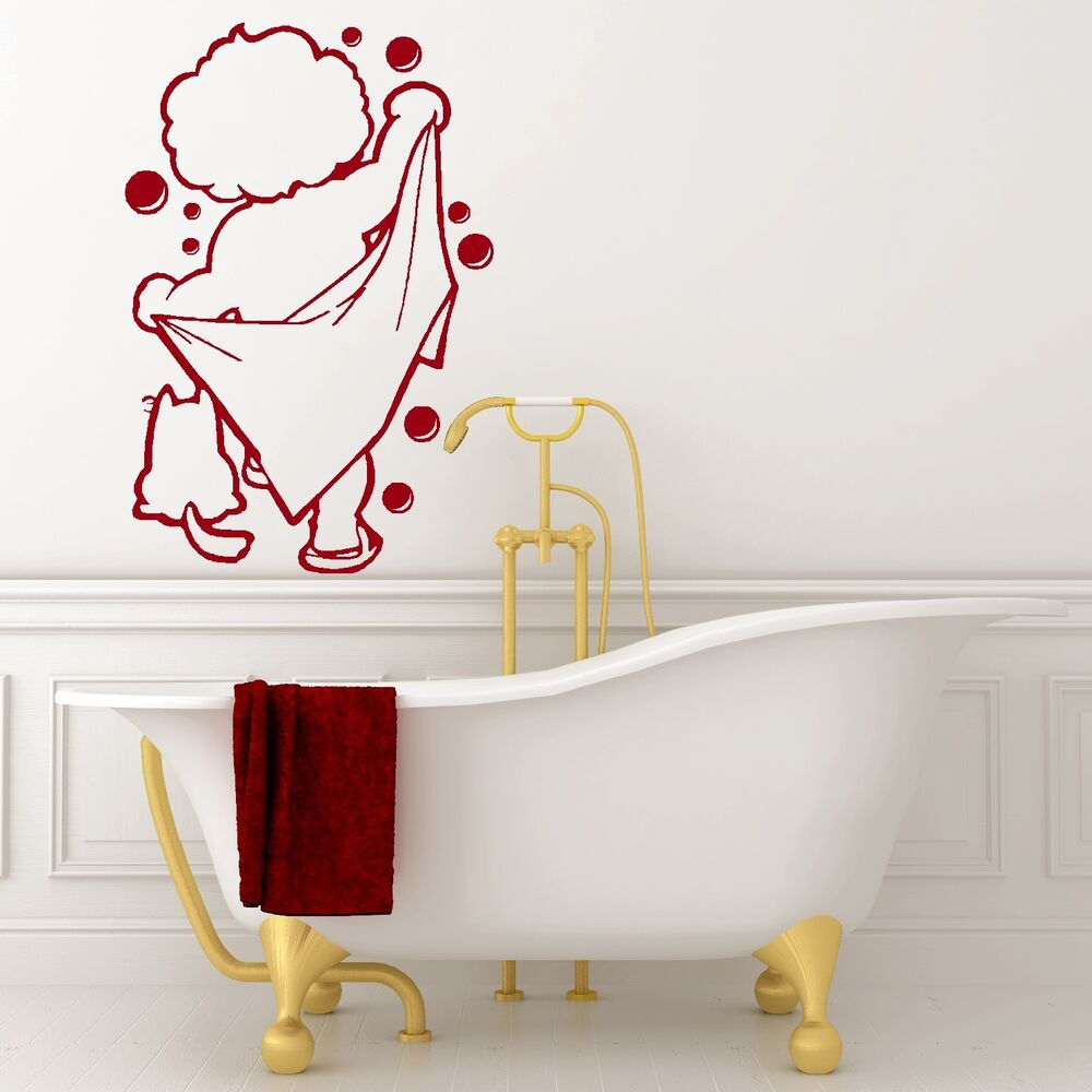 BATH TIME Vinyl Wall Art Bathroom Shower Sticker Decal