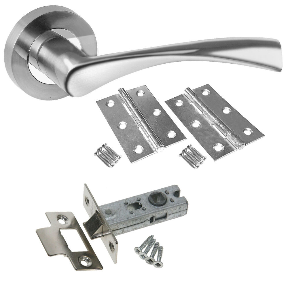 Astrid Chrome Internal Door Handle Packs Latch Lock Bathroom Door Handle Packs Ebay