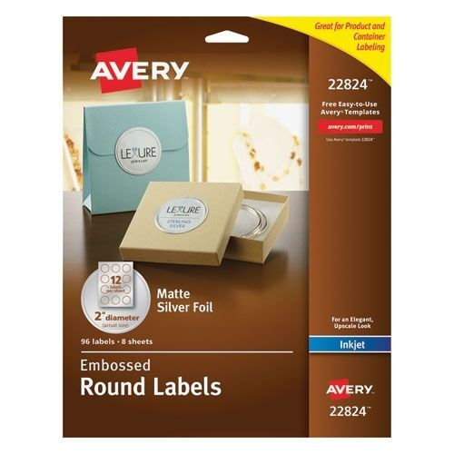 Avery Embossed Round Labels - 22824 72782228248 : eBay