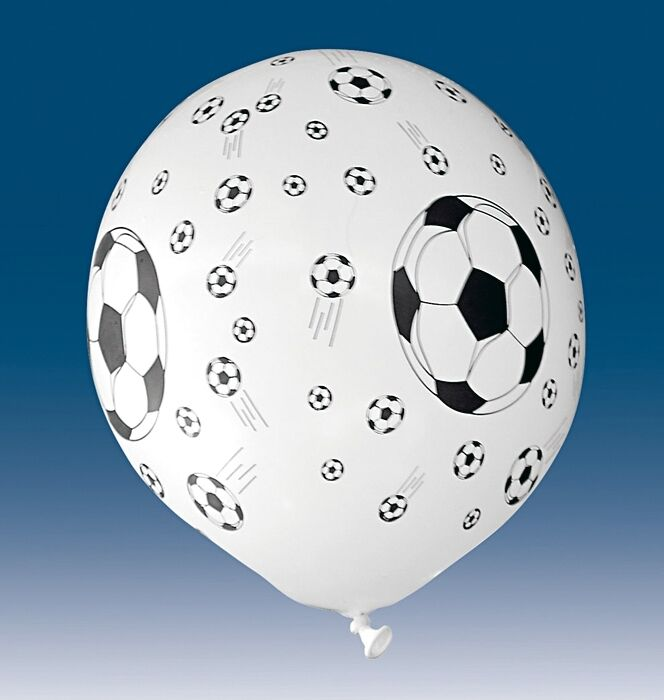 5 luftballons fussball schwarz weiss 30 cm geburtstag dekoration party deko ebay. Black Bedroom Furniture Sets. Home Design Ideas