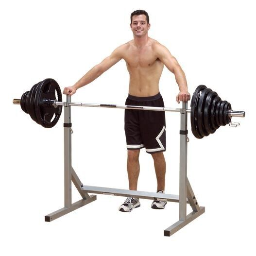 Body Solid Powerline Squat Rack Gym Weight Bench Press Stand Pss60x Ebay