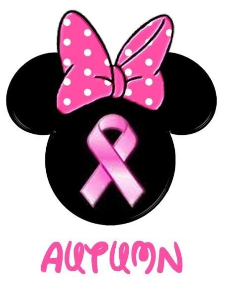 Minnnie Mickey Mouse Breast Cancer Awareness Personalized
