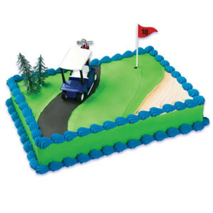 Golf 4 piece Cake Kit Topper Cake Decorating Kit Golf Cart ...