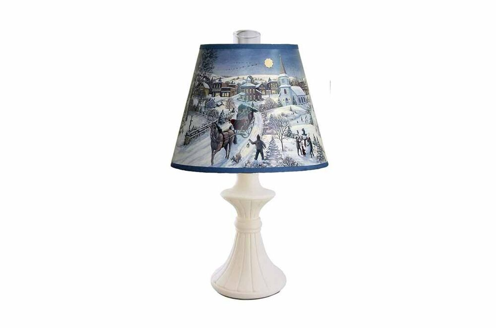 "How To Make Lamp Shades Christmas Accent Lamp, Holiday Scene Shade, 12""H 