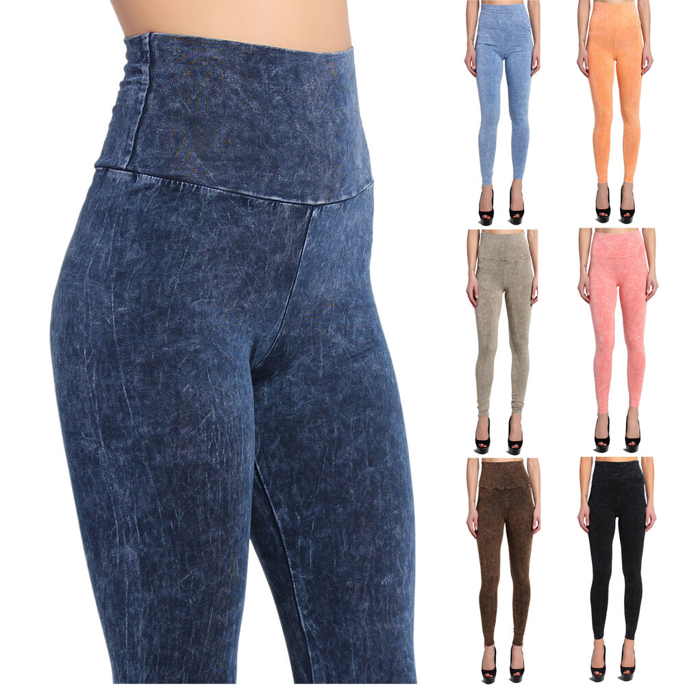 The soft, comfortable fit of leggings with the versatility of denim. All-around stretch. Ankle length: M 28'' inseam, P 25½'' inseam, W 28'' inseam, T 31'' inseam.