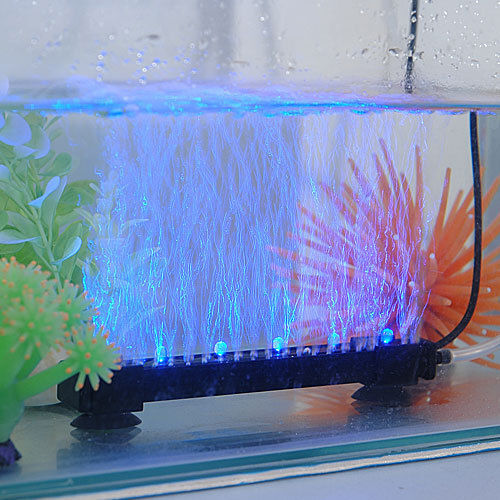 Led Aquarium Fish Tank Lights Air Stone Bubble Submersible
