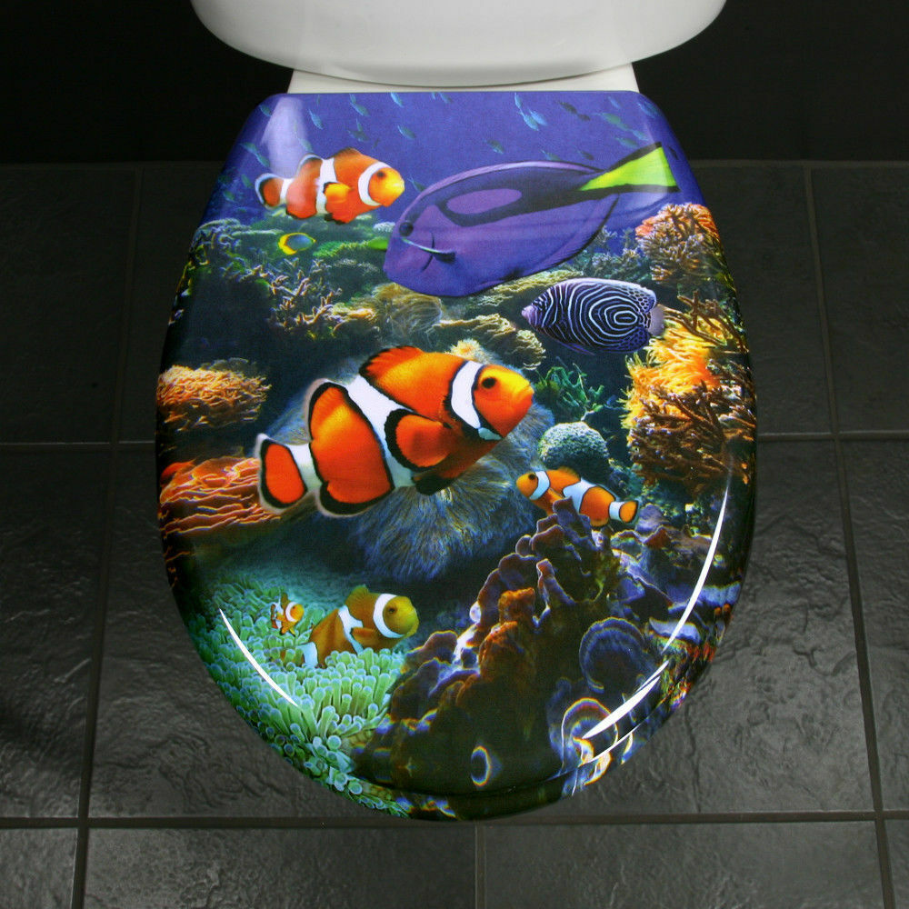 Toilet Seat Novelty Funky Fish Nemo In The Deep Blue Sea