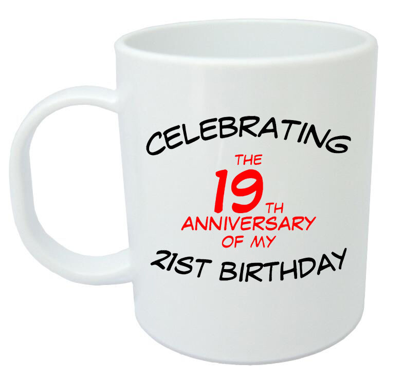 Celebrating 40th Mug - 40th Birthday Gifts / Presents For Men, Women, Gift Ideas